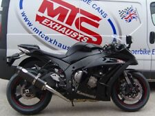 Kawasaki ZX10R 2011-16' Carbon Oval Carbon outlet road-legal MTC Exhaust