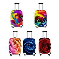 S/M/L Elastic Travel Luggage Suitcase 3D Rose Cover Protector For 20'' 24'' 28''