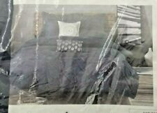 Ink+Ivy Luxury 3pc Navy Blue & Grey 200Tc Cotton Comforter And Decorative Shams