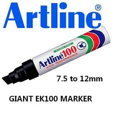 Artline EK100 Giant Permanent Markers 7.5 to 12mm - 18x BLACK