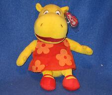 TY TASHA the HIPPO BEANIE BABY (BACKYARDIGANS) - MINT with MINT TAGS