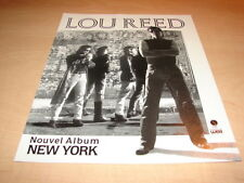 LOU REED - NEW YORK!!!!!!!!!!FRENCH!!PUBLICITE / ADVERT