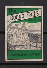 Ancienne étiquette allumettes  Belgique  A857   Chutes d'eau  Congo  2
