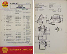Riley 2.6 Two-Point-Six Shell Servicing Guide Lubrication Chart
