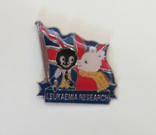 RUPERT & FRIEND POLICE  CHARITY BADGE  - LEUKAEMIA RESEARCH - BLUE SCROLL SILVER