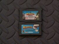 Lot Nintendo Game Boy Advance GBA Games Madagascar + Operation Penguin