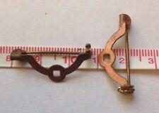 20 X Vintage Copper Coated Brooch Bar Backs Safety Pins - 27 Mm