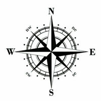 Pro DIY Compass Vinyl Decal Car Sticker Decals Decorative For Auto Car/Wind D8G8