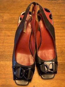 Designer MAX STUDIO Peep Toe Sling Back Heels 6 1/2 M - worn once!
