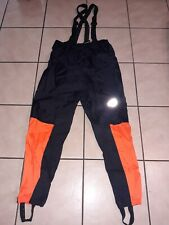HARLEY DAVIDSON MEN'S SIZE LARGE REFLECTIVE RAIN GEAR WITH SUSPENDERS