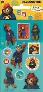 PADDINGTON BEAR From The Movie Party Stickers (6 Sheets) - Loot Bag Fillers