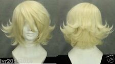 Short TIGER & BUNNY Light Yellow Anime Cosplay Wig + Gift