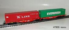 Märklin 47800 Vagón de contenedor DOBLE sggrss 80 DB Cargo # NUEVO EN EMB. orig.