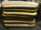 """KNIFE CASES  LARGE 18"""" X 4""""  ZIPPERED  PADDED  SATIN-LINED  SET OF FOUR (4) NEW!"""