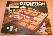 1975 Lowe DECEPTION Memory Poker Game - Complete - Jack Klugman & Tony Randall