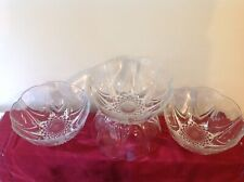 Set 4 FRUIT/TRIFLE  glass dishes made in france