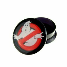 4-20mm Acrylic Ghostbusters Tunnel Stretcher Screw Hole Ear Plugs Single/Pair