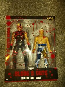 AEW UNRIVALED CODY & DUSTIN RHODES BLOOD BROTHERS FIGURES NEW SEALED WWE ELITE
