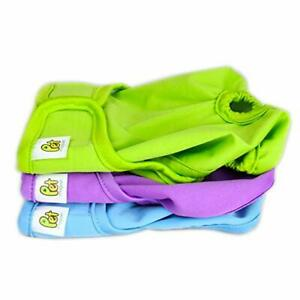 Pet Magasin Reusable Washable Dog Diapers Pack of 3 Highly Absorbent for Pets