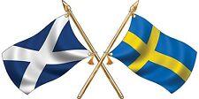 Media St Andrews/svedese attraversato Bandiere Adesivo Auto Camion Camper Van