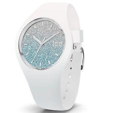 Ice-Watch Ice-Lo White blue medium Uhr Damenuhr Kautschuk Weiß 013429