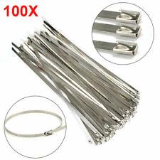 100 Stück Edelstahl Kabelbinder Metall Kabelbinder Stahlband Metalband Set 30cm