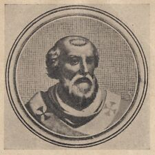 C2360 Ritratto di Papa Stefano V - Stampa d'epoca - 1925 vintage print