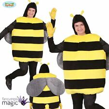 Adult Bumble Bee Bug Insect Mens Stag Do Fancy Dress Fun Novelty Costume Outfit