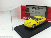 Best Model - Alfa Romeo TZ1 Targa Florio 1965 jaune (1/43)