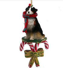 Australian Shepherd Dog Candy Cane Christmas Ornament Holiday Xmas tri Aussie