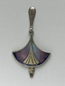 Scottish Sterling Silver & Enamel Art Nouveau Pendant  - Pat Cheney
