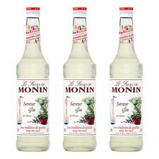 Monin Sirup Gin Flavour, 0,7L, 3er Pack
