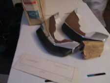 NOS CHEVROLET 1972 CAPRICE REAR BUMPER GUARDS WITH HARDWARE AND INSTRUCTION