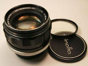 Minolta MC ROKKOR PF 58mm f/1.4 M/F  Lens Super Clean