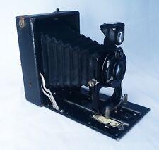 ICA Akt Ges Dresden Extra Rapid Aplanat Hellos 130mm Lens Antique Folding Camera