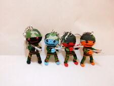 Thai Handmade Army Military Soldier Voodoo String Thread Doll Keychain Souvenir