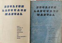 English Language Manual Book 1 e 2  di Howard Scott,  1959 - ER
