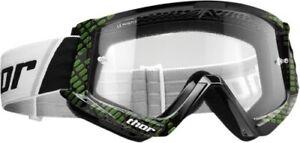 Thor Black/Lime Combat Cap Goggles 2601-2365
