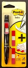 3M Post it Index Pen  (150 Post it Index Flags + Black Ink Pen)