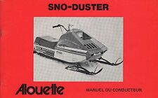 1976 ALOUETTE SNOWMOBILE SNO-DUSTER  OWNERS OPERATORS MANUAL (108)