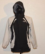 The NorthFace HyVent Girls Black Coat Full-Zip Hooded Lined Jacket Size Medium