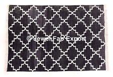 Indian 3x5 Ft100% Cotton Handmade Large Area Rug Indian Kilim Mat Floor Pray Mat
