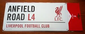 Official Liverpool FC 3D Metal Street Sign (Anfield Road L4) - FREE POST