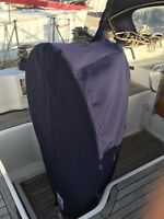 replacement yacht wheel and binnacle cover using existing cover as template