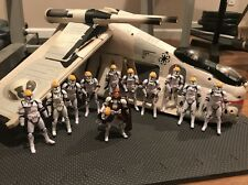 Star Wars Hasbro REPUBLIC GUNSHIP 12 Clone Troopers With Obi-Wan Lot