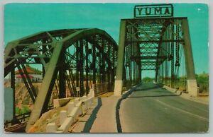 Yuma Arizona~Highway 80 And Railroad Bridge~Vintage Postcard