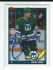 Brad Shaw Signed 1991/92 Topps Card #442