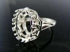 5721 RING SETTING STERLING SILVER 14X10MM OVAL SIZE 7