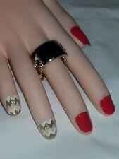 GOLD FASHION STRETCH CHAIN BAND RING