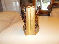 "Pair Of Carved Wood Giraffe Book Bookends 8"" Tall - Safari"